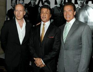 I Mercenari Bruce Willis - Sylvester Stallone - Arnold Schwarzenegger film curiosità